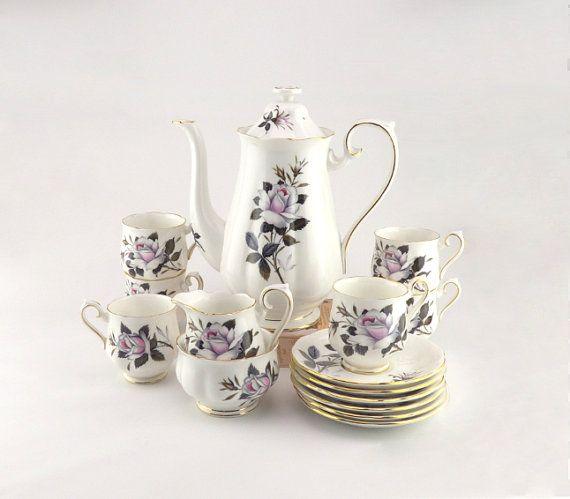 Royal Albert Coffee Set Queen's Messenger Pattern