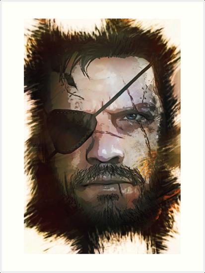 Venom Snake Big Boss Metal Gear Solid Art Print By Naumovski Big Boss Metal Gear Metal Gear Solid Metal Gear