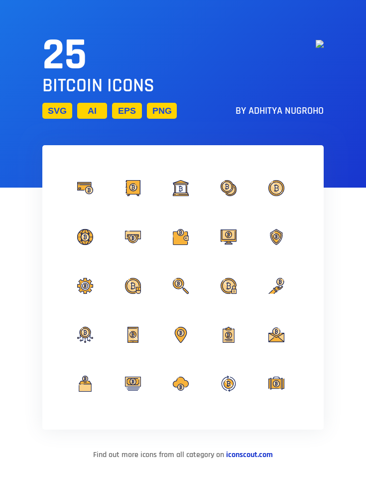 Download Download Bitcoin Icon pack - Available in SVG, PNG, EPS ...