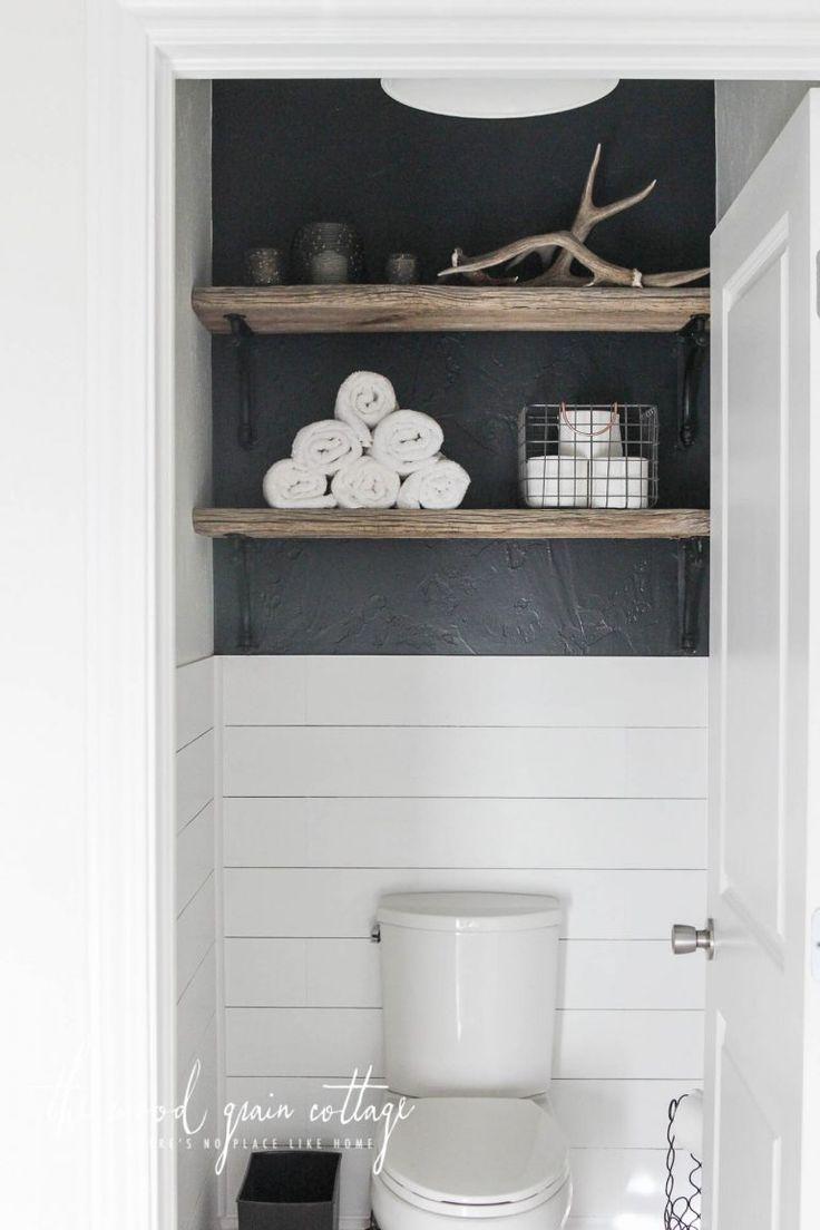 Decorating Shelves Above The Toilet  The Wood Grain Cottage  ToiletBath