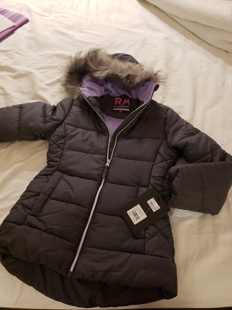 e23f02aacec6 RM 1958 Big Girls Ashlyn Hooded Jacket with Faux-Fur Trim size 14 ...