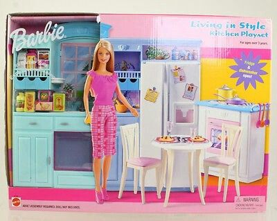 2002 Barbie Kitchen Playset Cool Barbies In 2019 Barbie