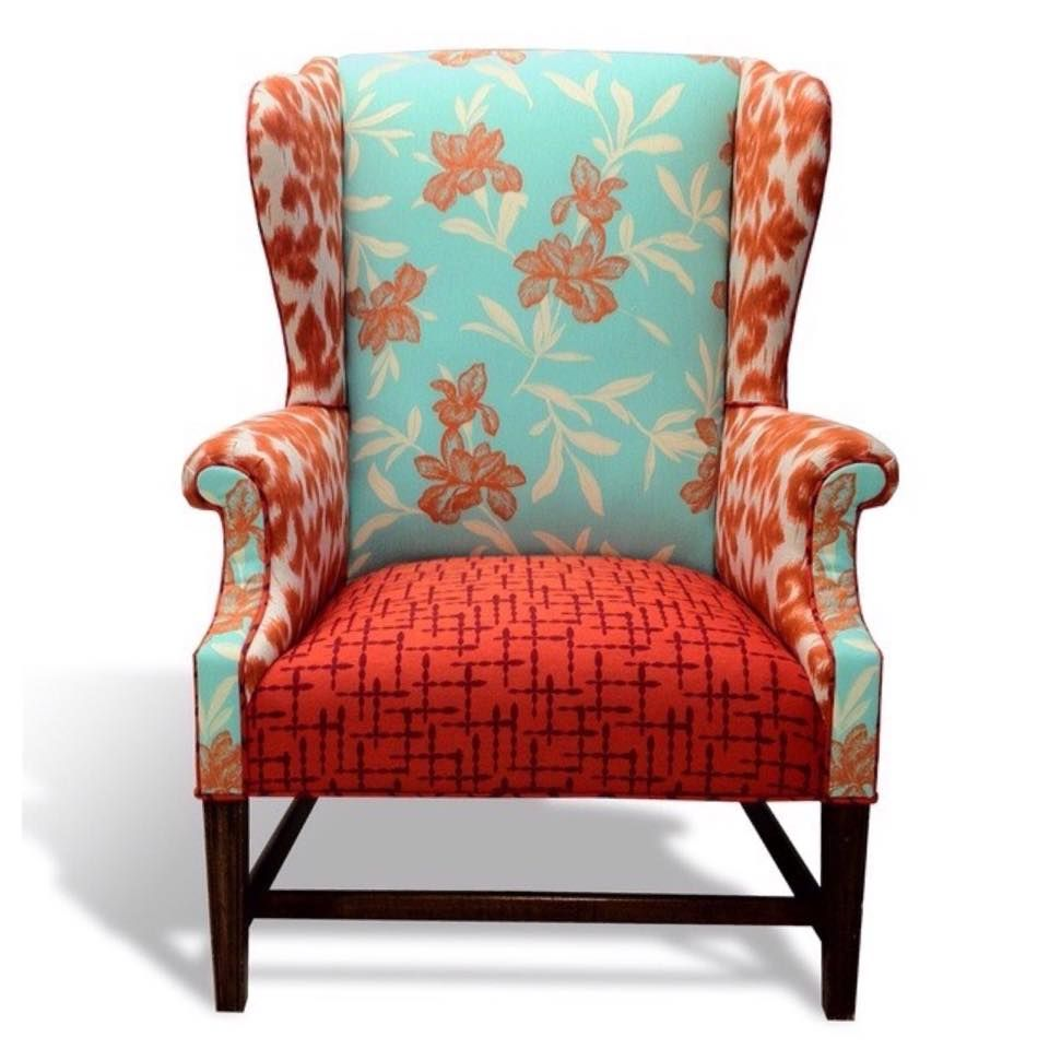 Multi Fabric Wingback Chairs