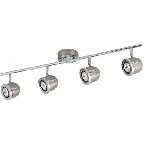 Searchlight Ceiling Spotlight in Satin Silver and Chrome - LightsWorld