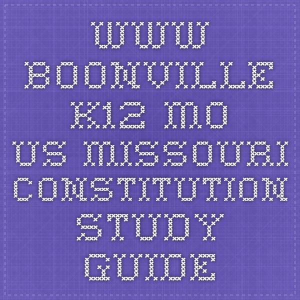 www boonville k12 mo us Missouri Constitution Study Guide