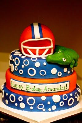 Admirable Florida Gators Cake Huge Cake Cake Cupcake Cakes Personalised Birthday Cards Veneteletsinfo