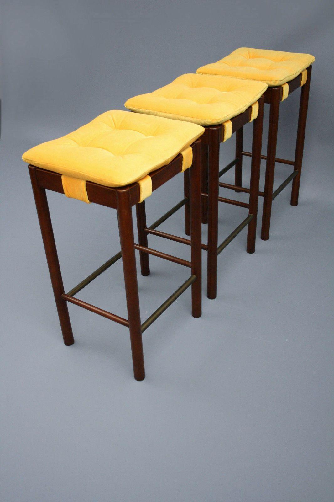 Remarkable Mid Century X 3 Parker Genuine Original Bar Stools Retro Machost Co Dining Chair Design Ideas Machostcouk