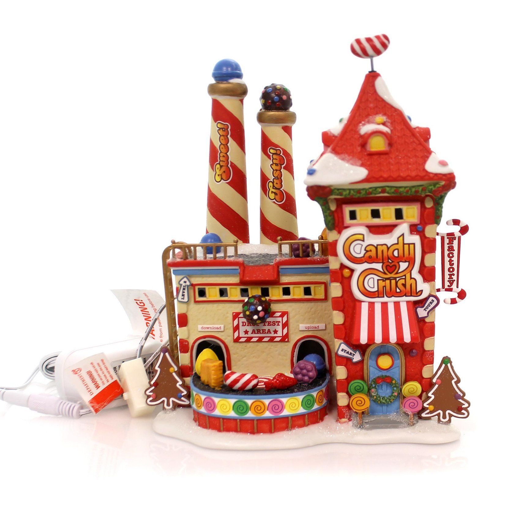 Department 56 House CANDY CRUSH FACTORY North Pole Game