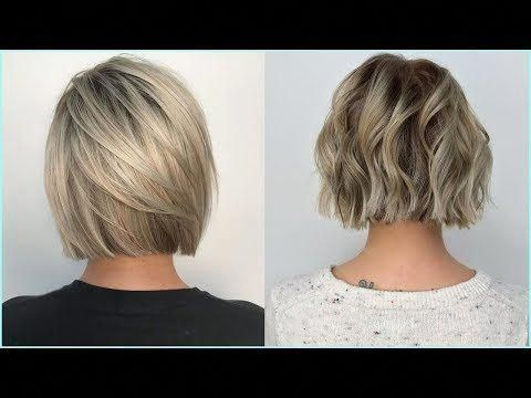 Top 11 Beautiful Short Bob And Medium Bob For Girls Short Haircut Compilation Youtube Shortha Wavy Bob Hairstyles Angled Bob Hairstyles Wavy Bob Haircuts