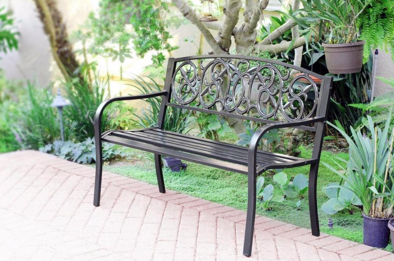 Jeco Inc Pb006 50 Royal Curved Back Park Bench Outdoor Garden Bench Outdoor Bench Metal Garden Benches