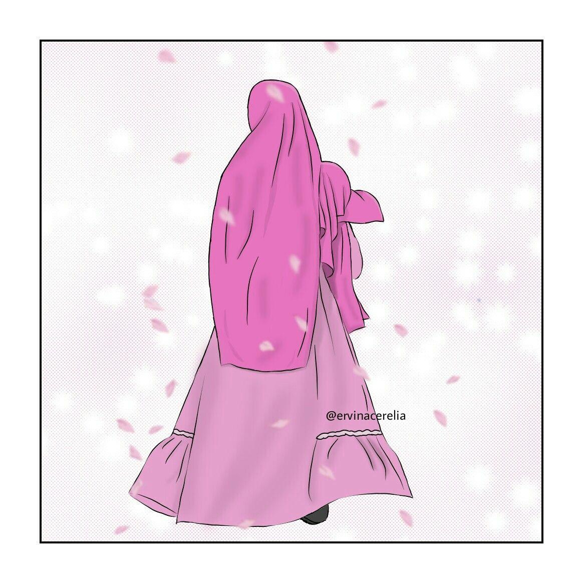 Pin oleh Cerelia di anime muslim Kartun, Seni islamis