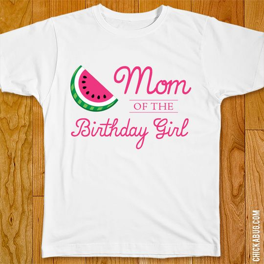 37946874f20 Watermelon Birthday Iron-On - Mom Dad Family Of The Birthday Girl -  Customize For Any Wearer!