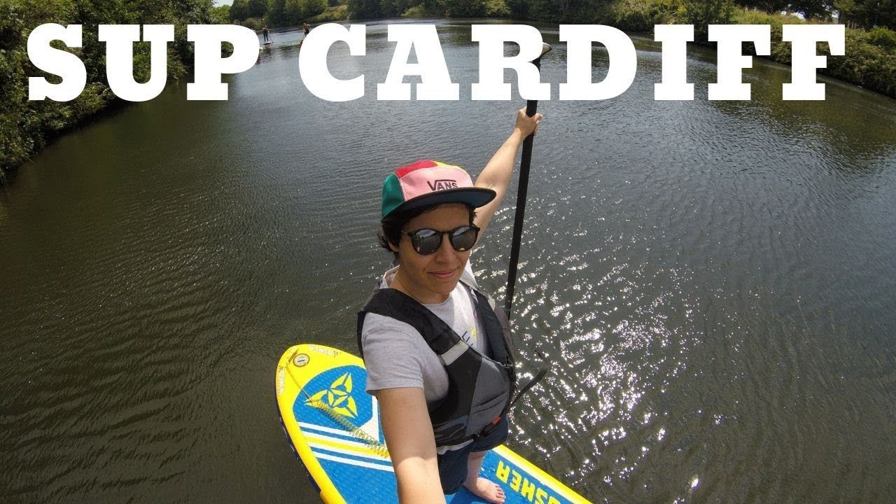 Paddleboarding from cardiff bay to bute park womens