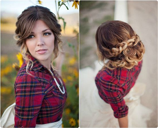 Superb Brown Ombre Hair Updo And Braided Updo On Pinterest Short Hairstyles For Black Women Fulllsitofus