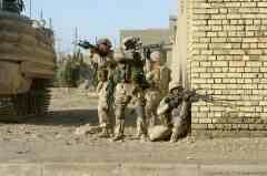 U S  Marines with 1st Platoon, 3rd Charlie Company, 1st