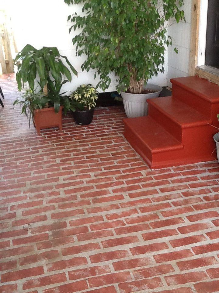 Painting My Carport To Look Like Bricks Faux Brick Patio