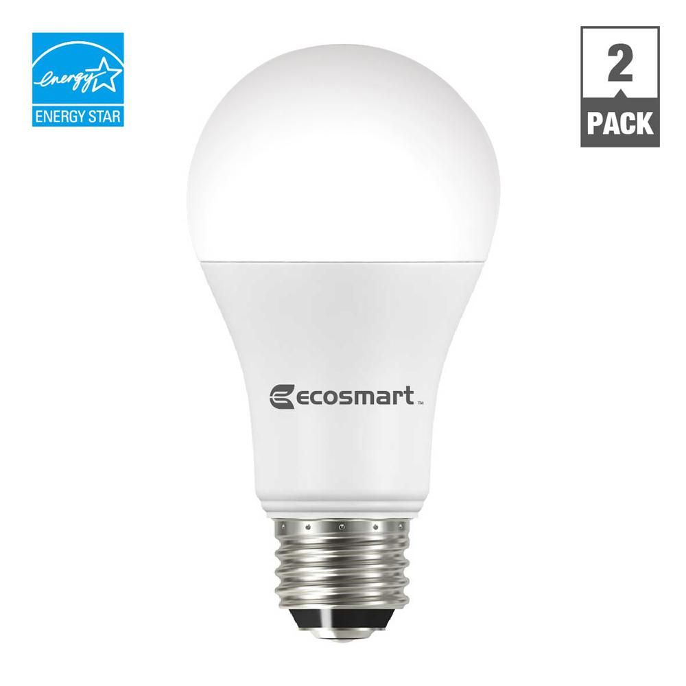 Ecosmart 100w Equivalent Soft White A19 3 Way Dimmable Led Light Bulb 2 Pack Dimmable Led Lights Led Light Bulb Led Bulb