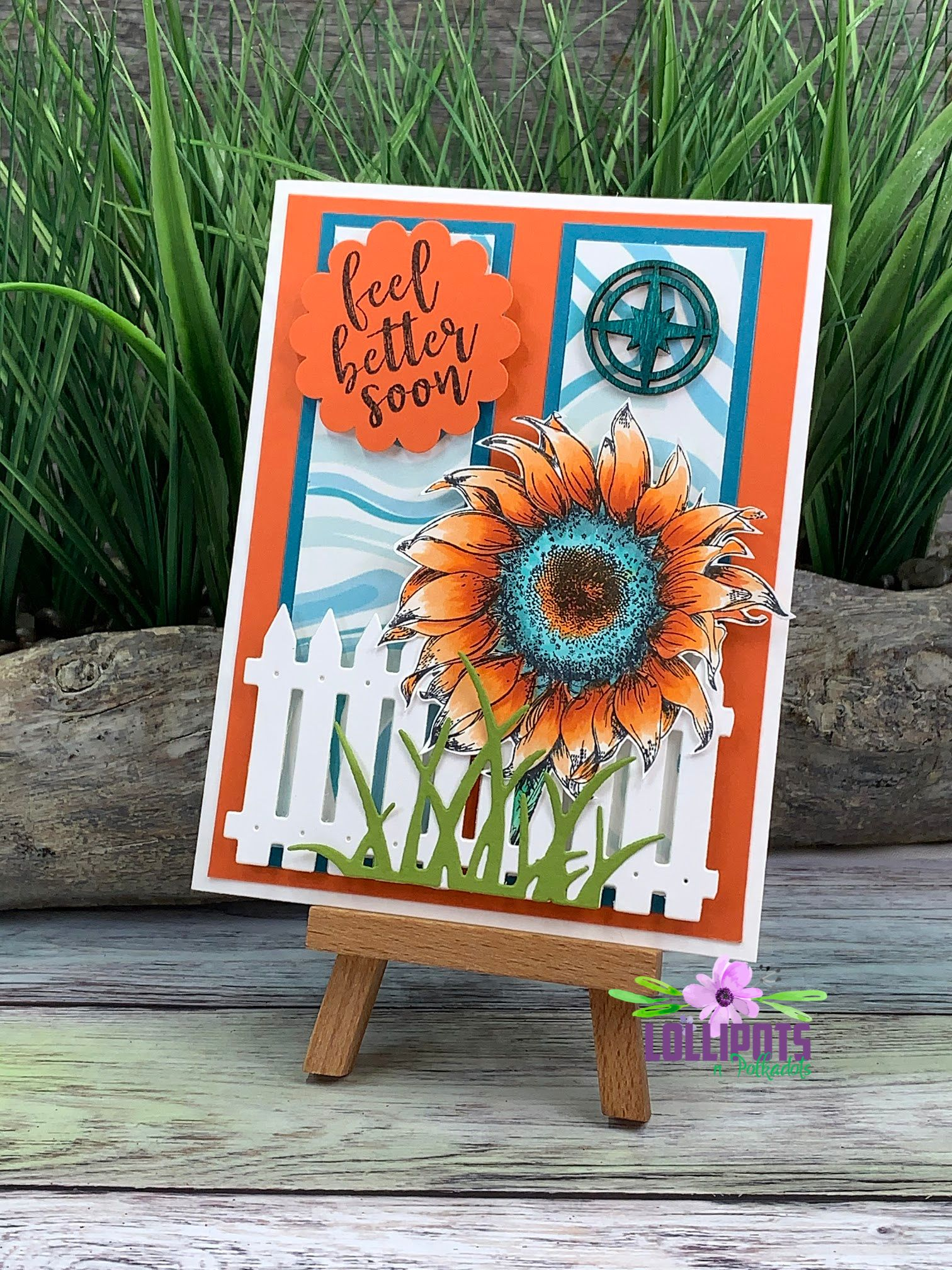 Hey Y'all!!!  Aren't sunflowers just beautiful!  Especially this sunflower with it's beautiful shades of orange and blue.  I colored this sunflower for the 'Coloring Challenge Road Trip' with @kathyrac.  Trying to get out of my comfort zone with colors and #befearless.  All the details are on my blog…. ~Teresa  @teresacplunkett #whimsystamps #fsjourney #scrapbookpal #getwellsoon #feelbettersoon #sunflowers #kathyrac #happymail #befearless #coloroutsidethelines