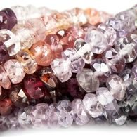 4mm Multi Color Spinel Faceted Rondelle Beads 15 inch 172 beads