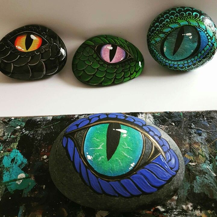 Dragon Eye Painted Rocks Ideas For Painted Rocks