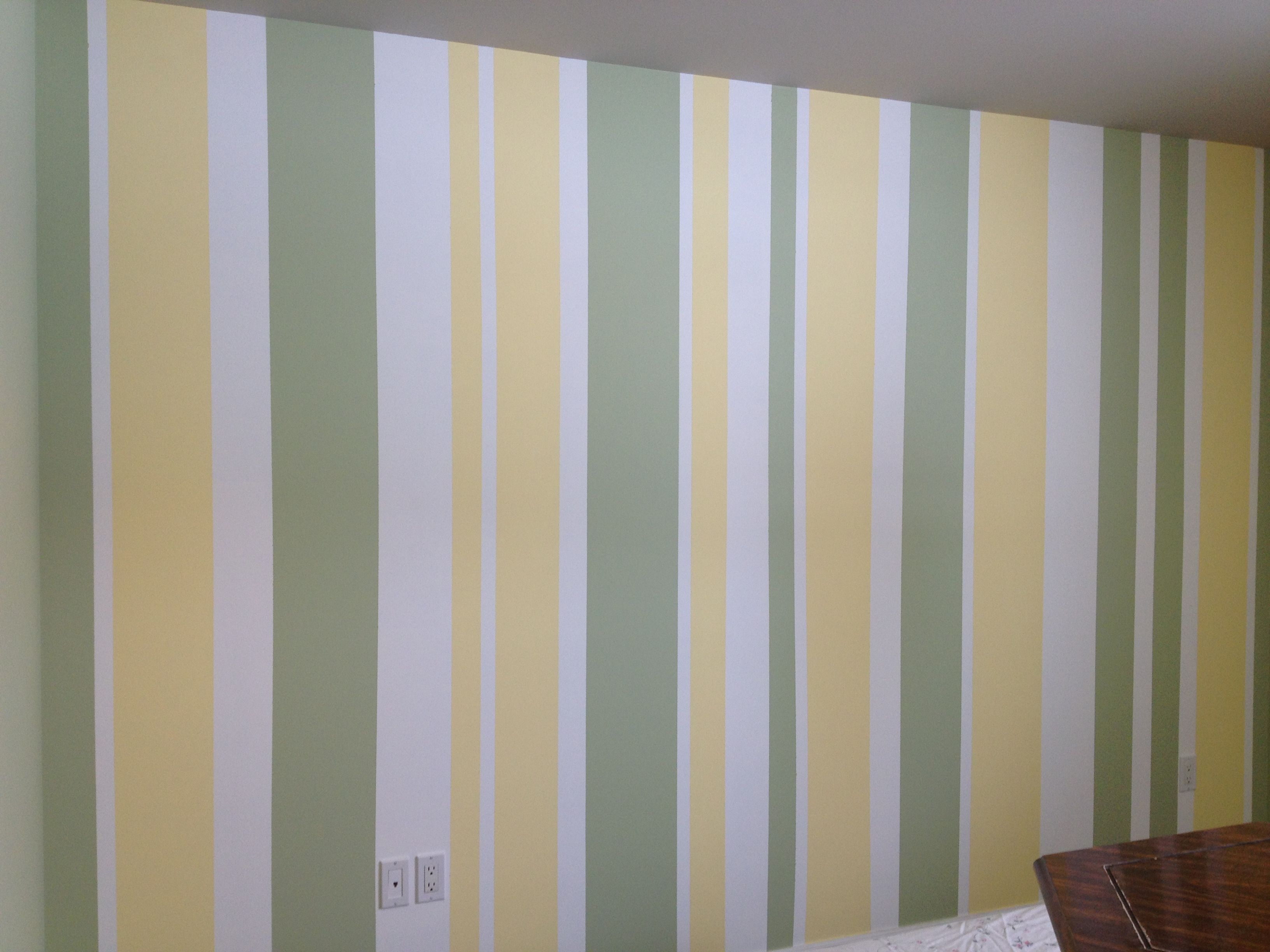 Is This Too Much Going On In The Nursery Striped Walls Nursery