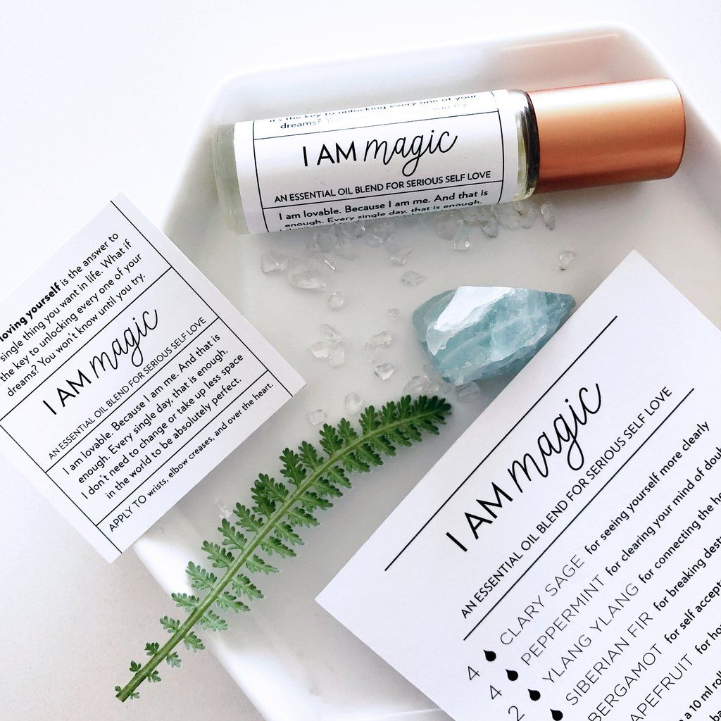 I am magic label essential oils recipe cards oils