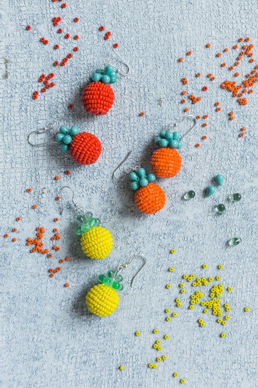 Diy Fruit Earrings Fruit Earrings Diy Beads Diy Gifts