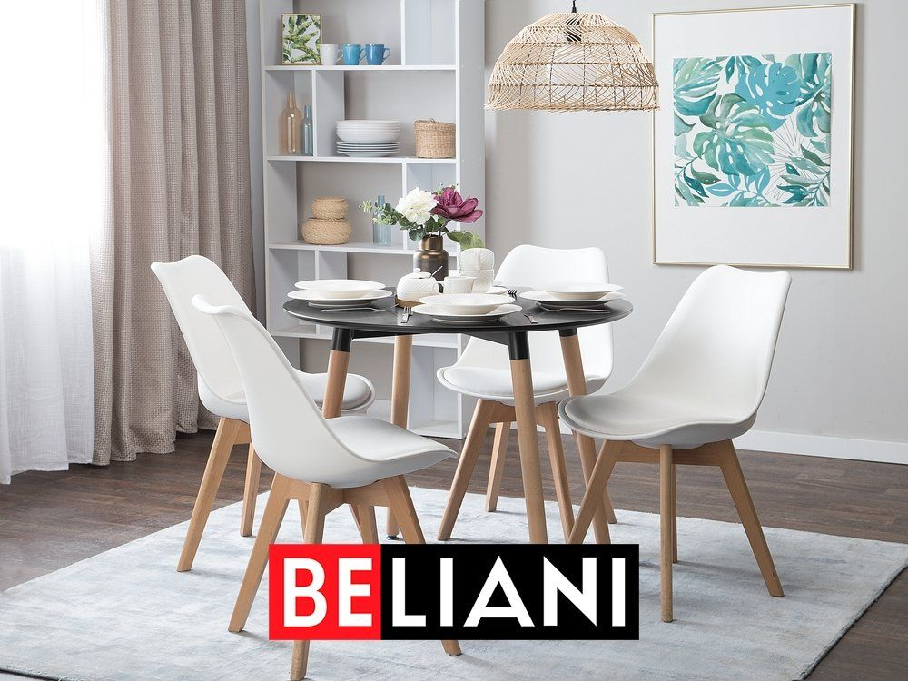 Photo of Simple and stylish dining room table 90 cm