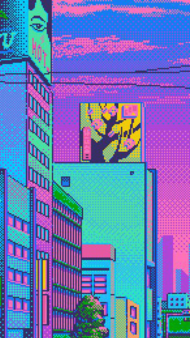 fixtional | Pixel art, Iphone wallpaper vaporwave ...