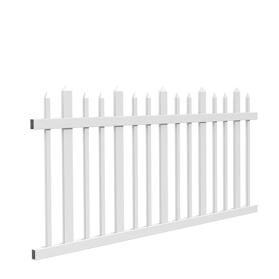 Gatehouse Arborley White Stockade Picket Vinyl Fence Panel Common 48 In X 8 Ft Actual 46 7 63 At Lowes