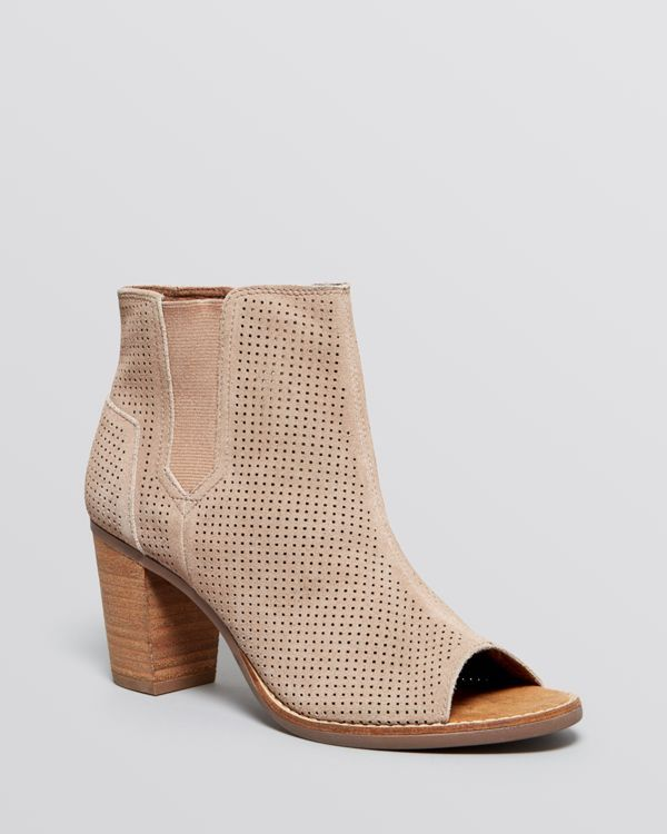 3c1e940e76f Toms Open Toe Perforated Booties - Majorca