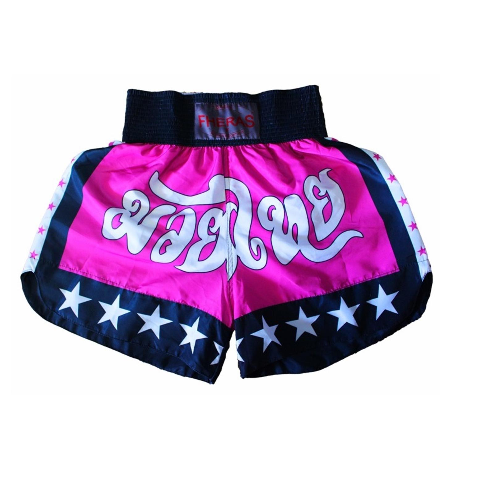 5b8d327a4 Kit Muay Thai Oríon Fheras Luva Bandagem Bucal Caneleira Shorts Bolsa 14 OZ  Rosa Branco