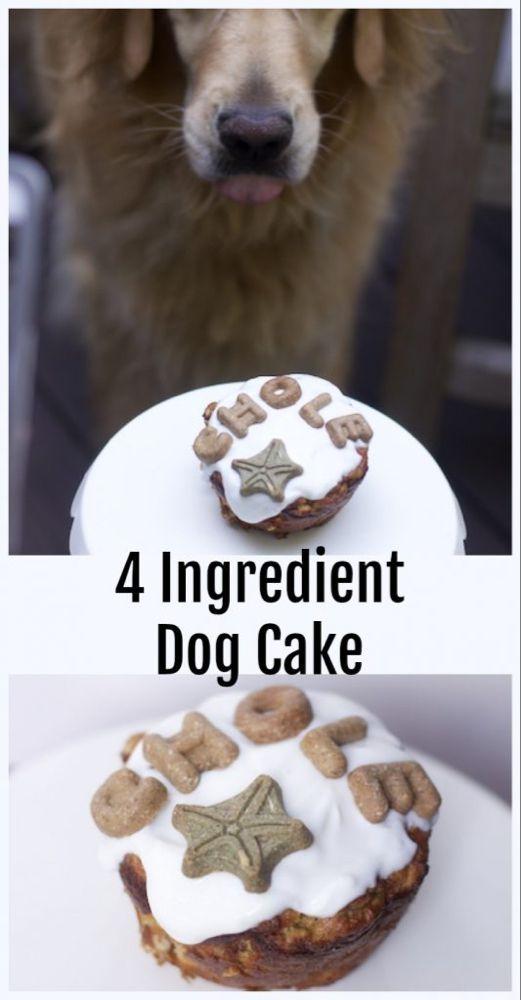 Heatlhy Single Dog Cake Recipe (Grain Free Dog Cake)