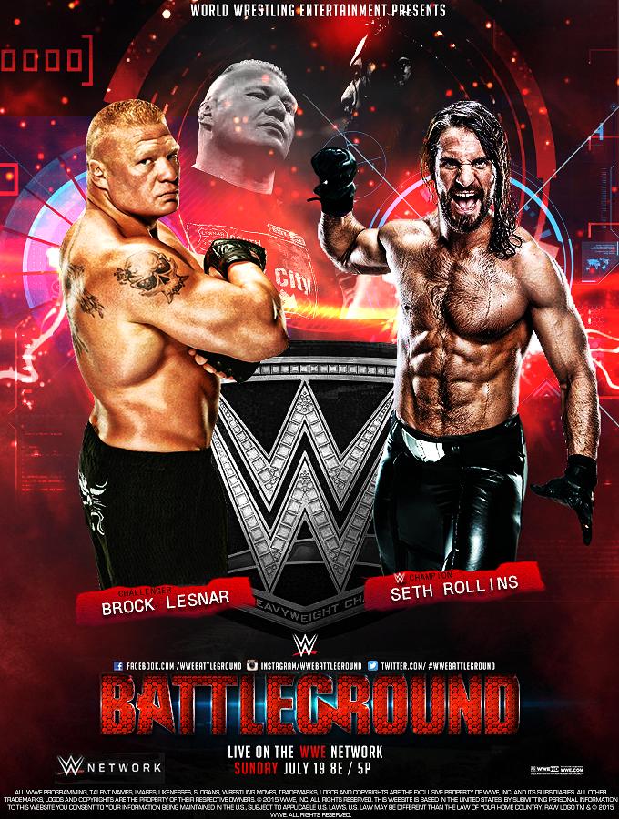 Wwe Battleground Ppv Poster V2 Wwe Wwe Events Wrestling Wwe