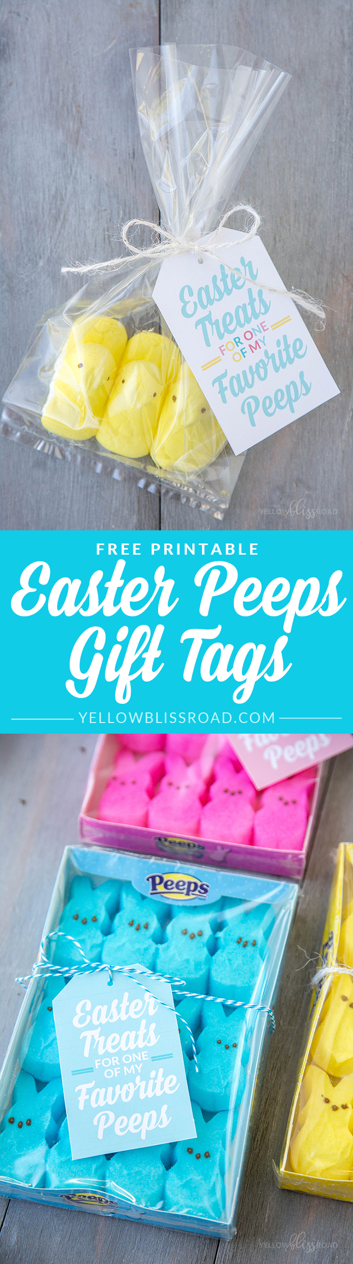 Peeps easter gift idea with free printables free printable easter free printable peeps gifts tags for easter cute classroom friends or neighbor easter gifts negle Images