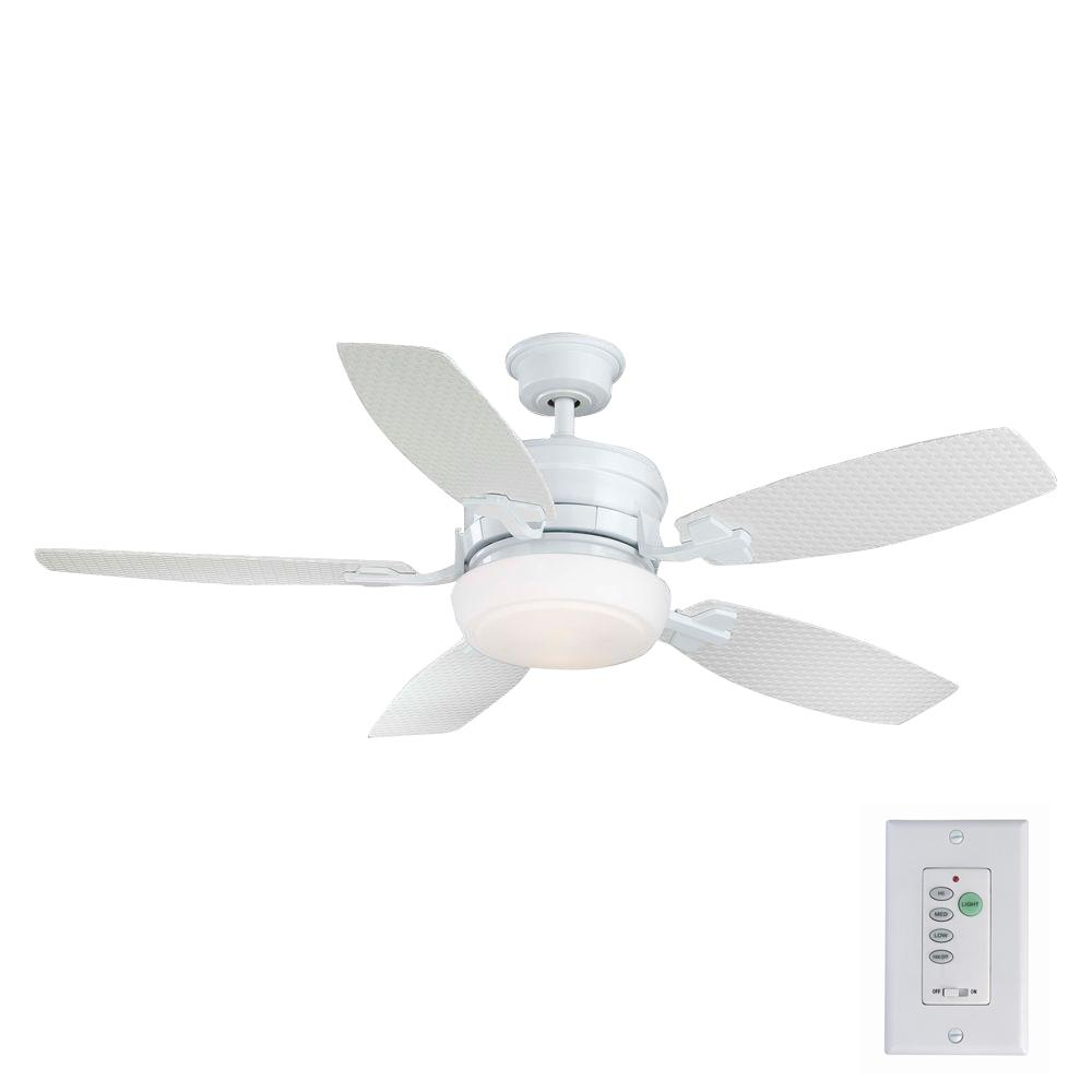 Home Decorators Collection Molique 54 In Indoor Outdoor Natural Iron Ceiling Fan With Light Kit And Wall Control Am128 Ni The Home Depot White Ceiling Fan Ceiling Fan Ceiling Fan With Light