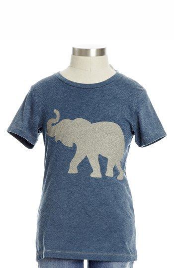 Peek 'Elephant' Crewneck Tee (Toddler Girls, Little Girls & Big Girls) available at #Nordstrom