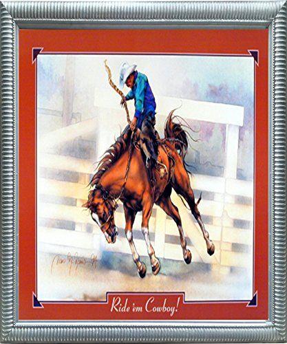 western cowboy rodeo horse riding silver wall decor photo https