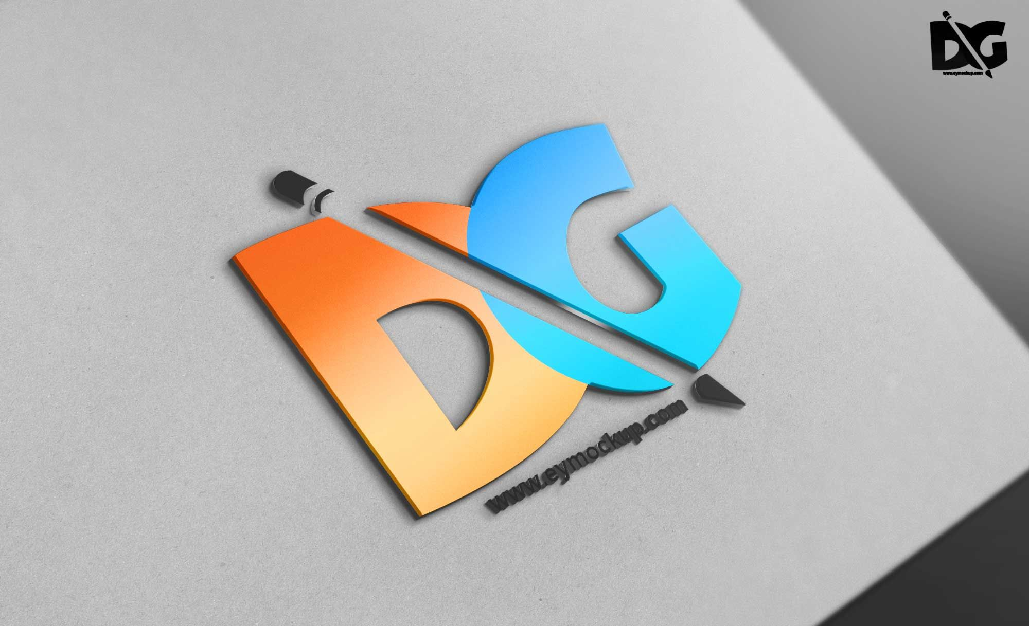 Tilt 3d Logo Mockup Psd Free Psd Mockup New Mockup Free Logo Mockup Psd Free Logo Templates Psd Design Mockup Free
