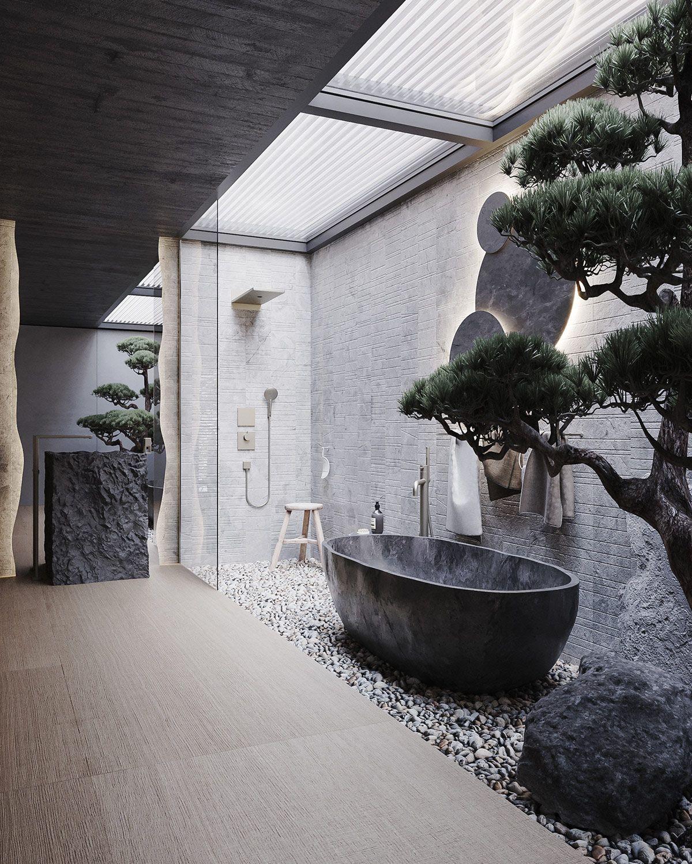 Darkly Designer Interiors Decked Out In Stone, Mar