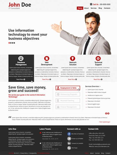 Free Consultant WordPress Theme for consulting websites https://www ...