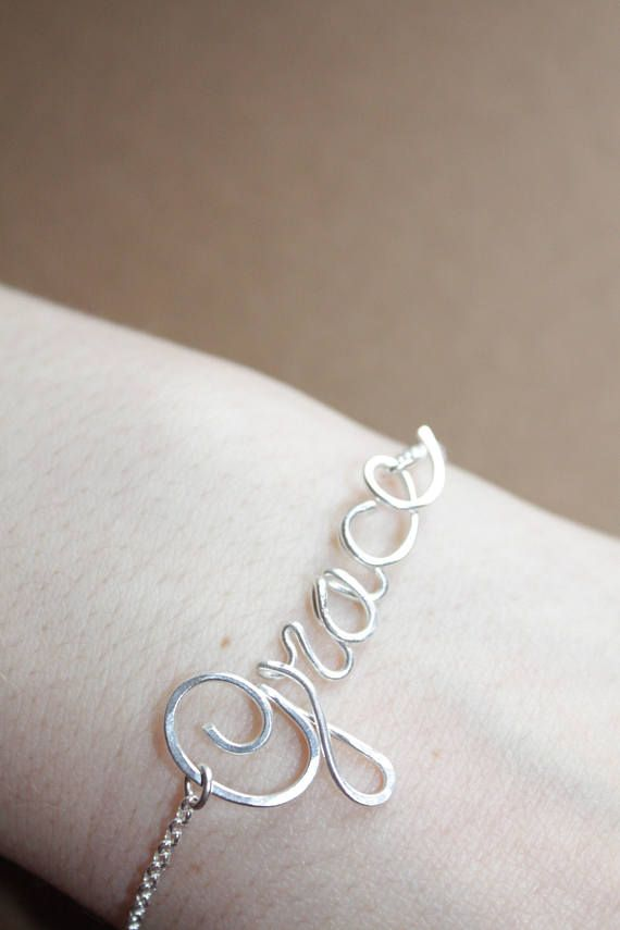 Sterling Silver Name Bracelet Personalized Jewelry Custom