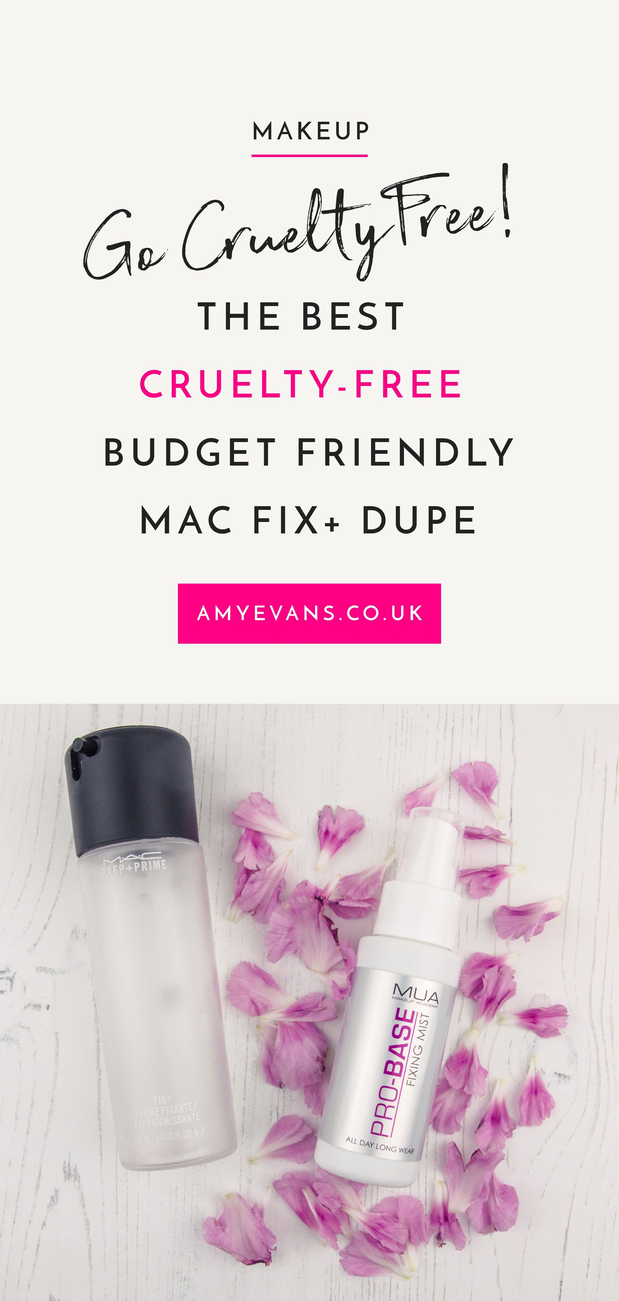 MUA Pro Base Fixing Mist, A MAC Fix+ Dupe Simple