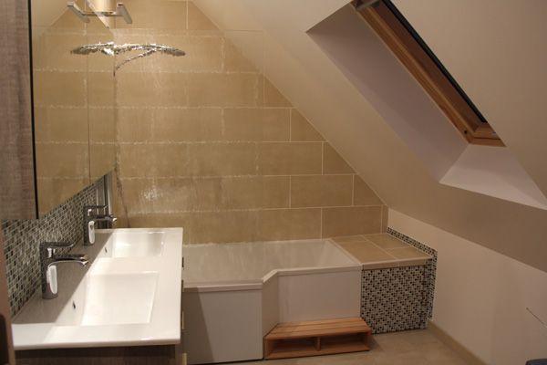 Pin by Maçonnerie Fondimare on nos Rénos salle de bains douche style