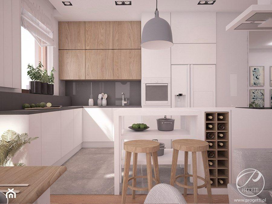 Apartamenty Marymont Duza Otwarta Kuchnia W Ksztalcie Litery L Z Wyspa Z Oknem Styl Nowoczesny Interior Design Kitchen House Design Kitchen Kitchen Layout