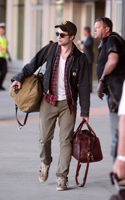 Robert Pattinson. One Filson bag doesn t seem to be enough.  77310aa3a