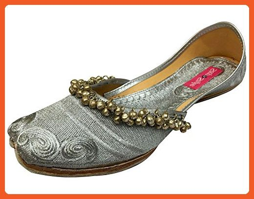 53acee8202ce10 Step n Style Women Payal Silver Punjabi Jutti Ethnic Pakistani Indian  Khussa Shoes - Flats for women ( Amazon Partner-Link)