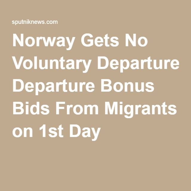 Norway Gets No Voluntary Departure Bonus Bids From Migrants on 1st Day