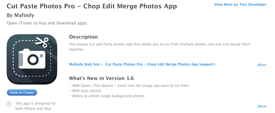 App for iPad/iPhone that allows you to cut and paste images
