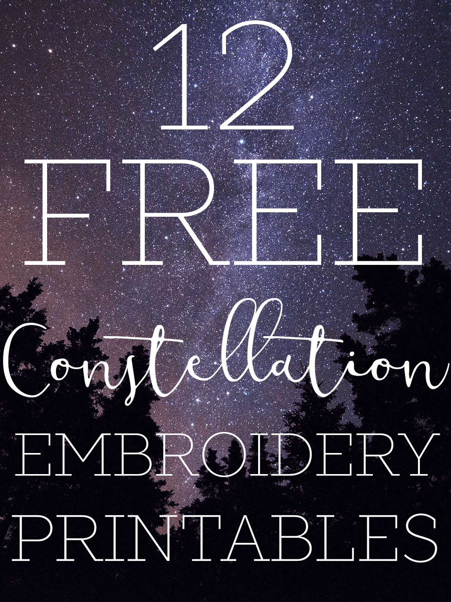 free constellation embroidery pattern printables constellation